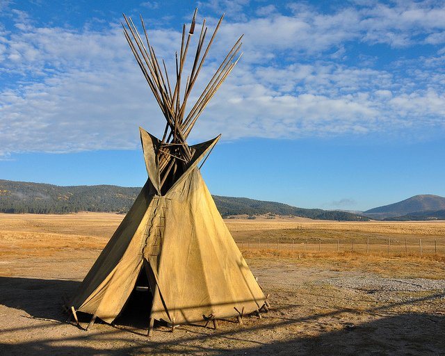 Teepee and the western sky